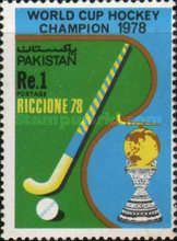 Pakistan issued a stamp on becoming World Cup hockey Champions in 1978
