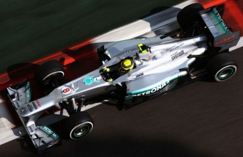 Rosberg escaped unharmed from a horror crash