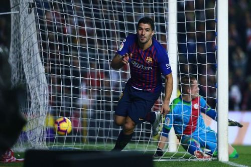 Suarez took on the goal-scoring responsibilities in the absence of his strike-mate