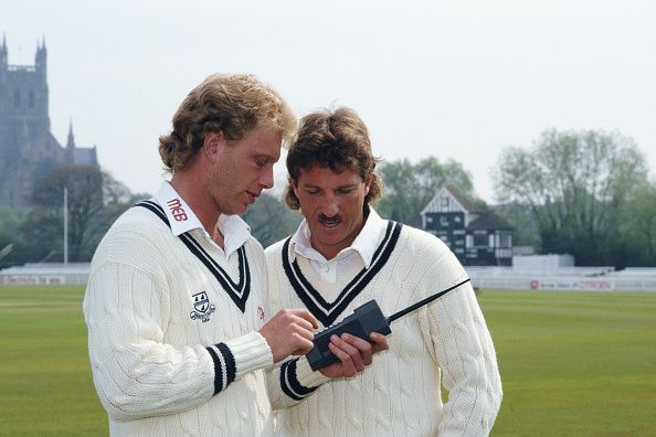 Ian Botham and Graham Dilley join Worcestershire CCC 1987