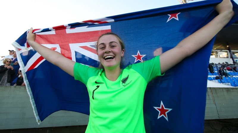 New Zealand goalkeeper Anna Leat's impressive display took them to the semi-finals(Image Courtesy: FIFA)