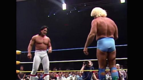 Ric Flair challenges Ricky Steamboat for the NWA World Heavyweight Championship at Wrestle War 1989