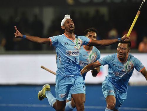 India started their hockey World Cup campaign on a rousing note, blanking South Africa 5-0 in their opening Pool C match