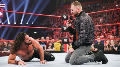 Dean Ambrose attacked Rollins to turn heel a few weeks ago