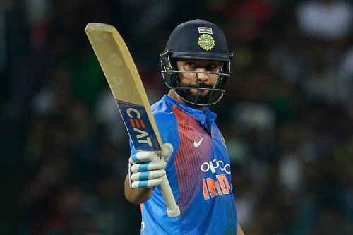Rohit Sharma smashed his fourth T20I century to set-up India's formidable total