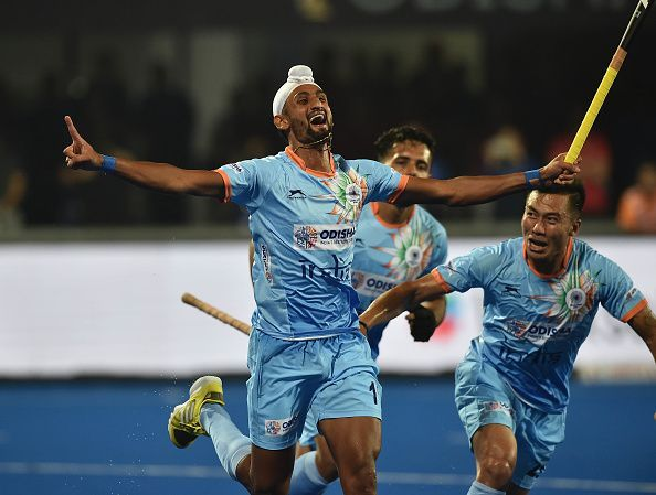Mandeep Singh scored the opening goal in India