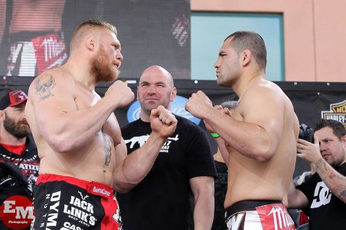 Brock Lesnar and Cain Velasquez: Clashed in the UFC 121 headliner