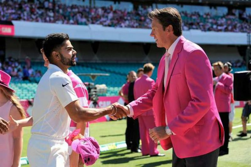 Virat Kohli and Glenn McGrath