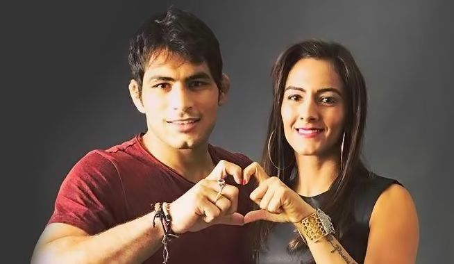 Geeta Phogat and Pawan Kumar