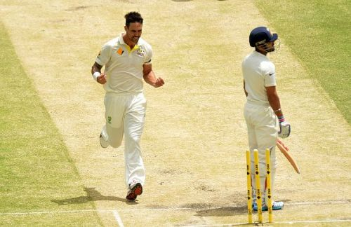 Mitchell Johnson had a fascinating battle with Virat Kohli during the 2014/15 series in Australia