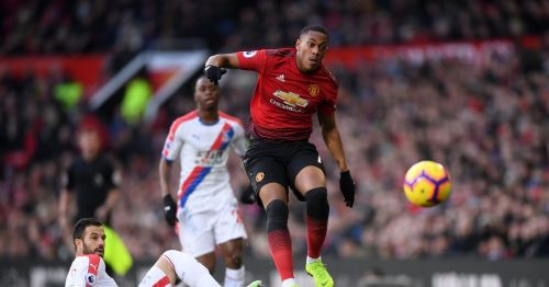 United took on Palace at Old Trafford.