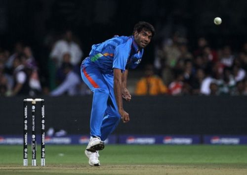 Munaf Patel during the 2011 World Cup