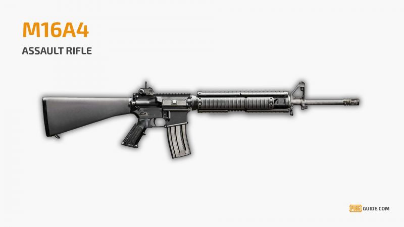 M16A4 features the best fire rate among the assault rifles (Image Courtesy: PUBG Guide)
