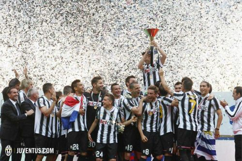 Juventus celebrate their 2011-12 Serie A championship