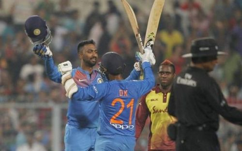 India won the first T20I by five wickets