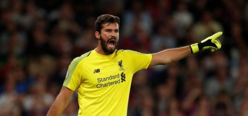 Alisson Becker wins the Goalkeeper of the year award
