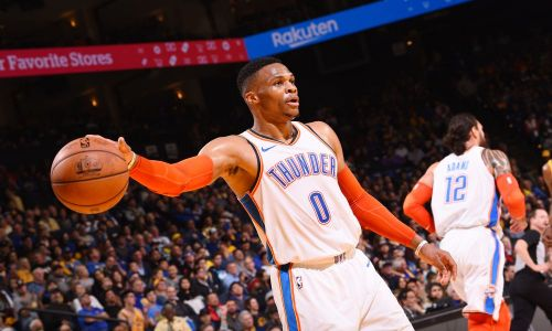 Westbrook posted his first triple-double of the season. Credit: USA Today