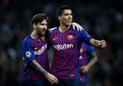 Barcelona superstars - Lionel Messi and Luis Suarez