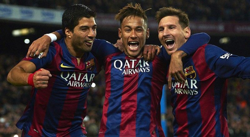 L-R (Suarez, Neymar, Messi)