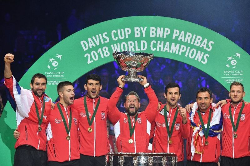 The victorious Croatian Davis Cup Team