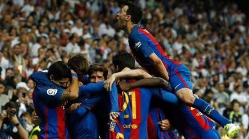 Messi scored in the 92nd minute at Santiago Bernabeu