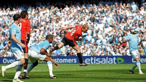 Paul Scholes with a late winner that day.