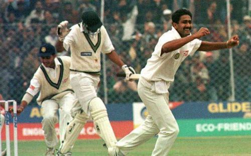 Kumble created history when he picked up all 10 wickets against Pakistan