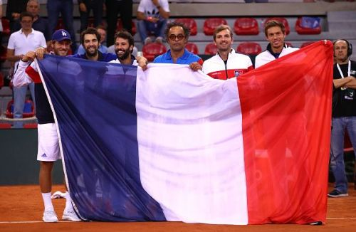 The victorious France Team at the 2017 Davis Cup