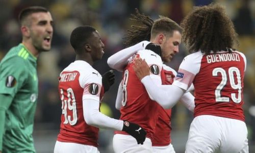 The young Gunners team made it a stroll in the park