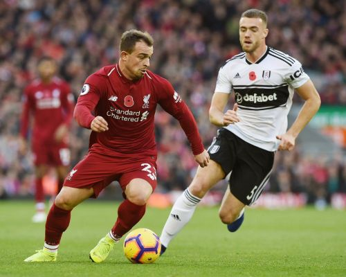 Shaqiri doubled the lead for Liverpool in the second half