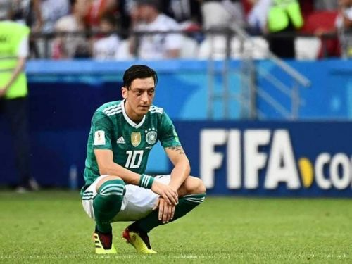 Ozil saw his international career end on a particularly sour note.