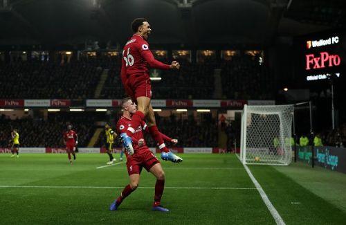 Trent Alexender-Arnold scored a brilliant free-kick against Watford.