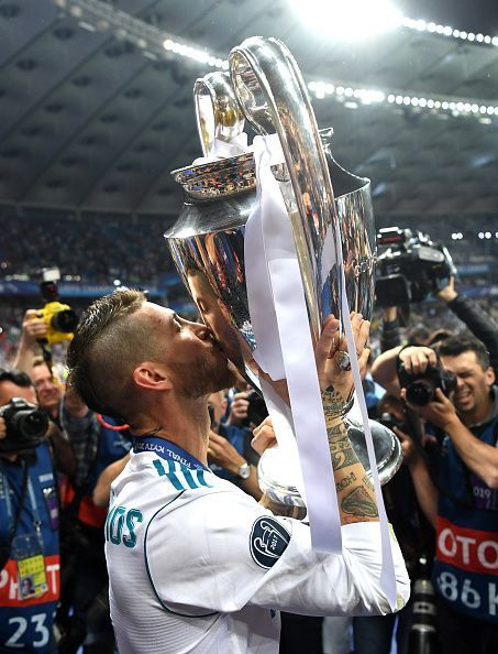 Ramos with the UCL trophy after beating Liverpool