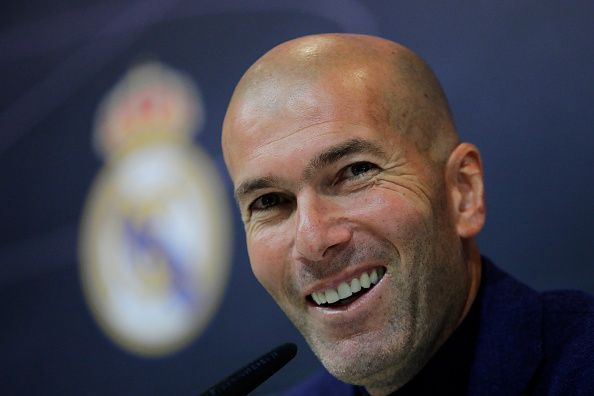 Zinedine Zidane at a Real Madrid Press Conference