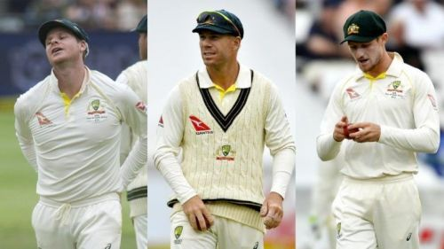Smith-Warner-Bancroft - the trio facing the ban for the ball-tampering issue.