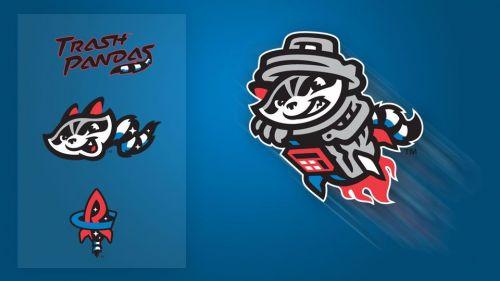 Madison, Alabama's Rocket City Trash Pandas unveiled their space raccoon-themed logos last week