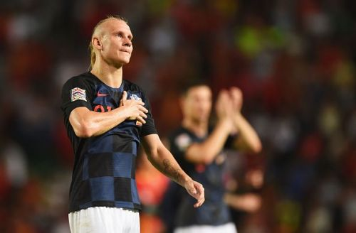 Domogoj Vida got the first goal in Croatia's win over Jordan