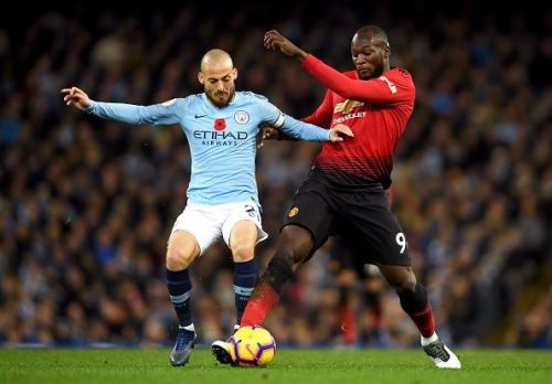 David Sila and Romelu Lukaku, Manchester City v Manchester United - Premier League 2018/19