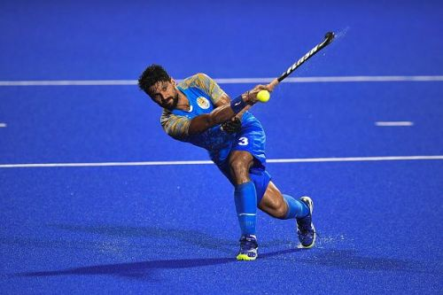 Rupinder Pal in action during Asian Games
