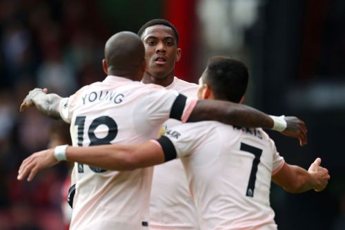 Martial netted his fifth Premier League goal of the season