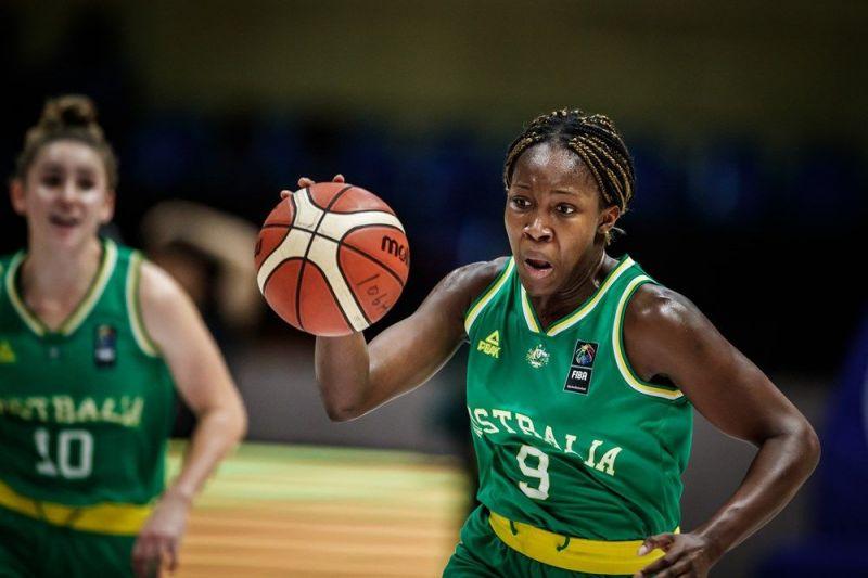 Nnenna Agnes Emma-Nnopu of Australia earned a double-double- 17 pts, 17 rebs (Image Courtesy: FIBA)
