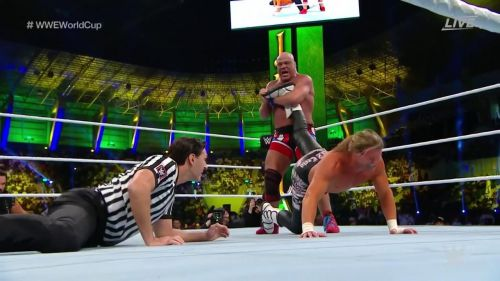 Kurt Angle really put the screws to Dolph Ziggler