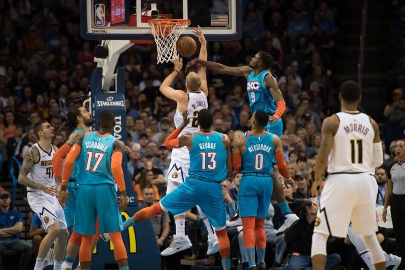 The Thunder fell to a disappointing home defeat to the Nuggets