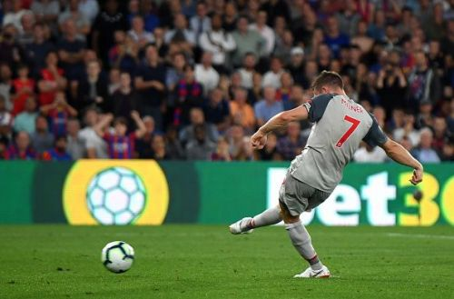 Milner's goal against Crystal Palace on 20 August was his 8th consecutive goal from the spot.