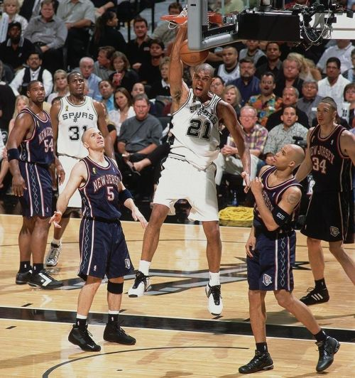 Tim Duncan scores a near quadruple-double in Game 6 of the 2003 NBA Finals