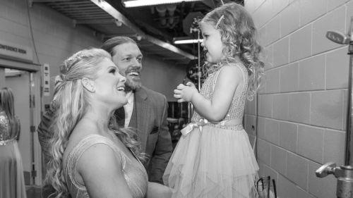 Edge's beautiful family