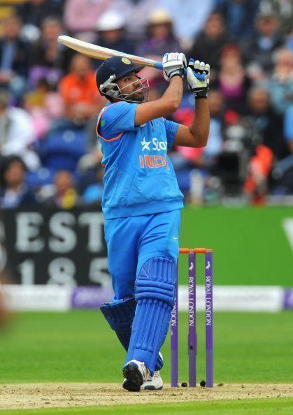 Rohit Sharma playing his