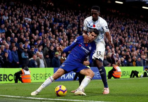 Morata had a tough time once more on this occasion, against determined debutant Mina