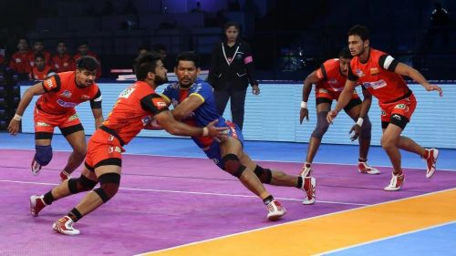 Rishank Devadiga in action. [Picture Courtesy: ProKabaddi.com]