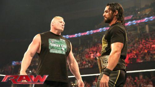 Image result for Brock Lesnar vs Seth Rollins